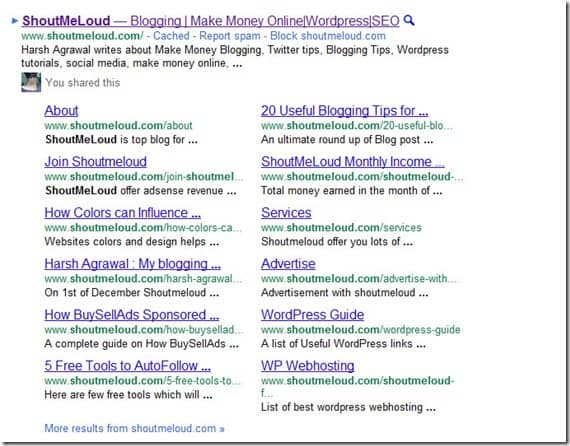 GooglebigFatSitelinks thumb Google Big Fat SiteLinks is Live with 12 Links