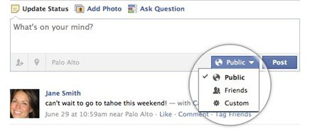Inline Sharing Controls Facebooks New Privacy Settings: A Google+ Rip off?
