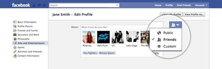 Inline profile controls Facebooks New Privacy Settings: A Google+ Rip off?