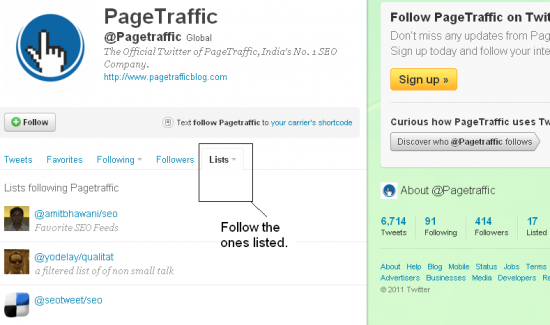 Twitter Lists 550x325 How to Do Link Building Using Twitter