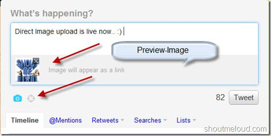 TwitterPhotopreview thumb Twitter Web added Direct Photo Upload Feature