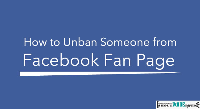 Unban From Facebook Fan Page