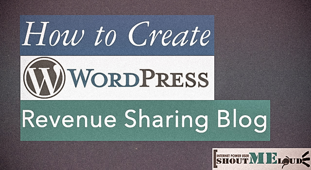 WordPress Revenue Sharing Blog