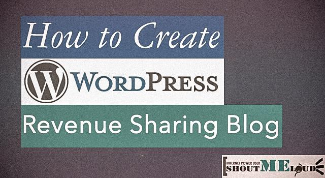 WordPress Revenue Sharing Blog