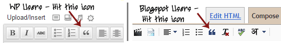 blockquote icon wp blogger How to Style BlockQuote With CSS for BlogSpot and WordPress