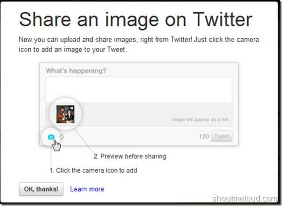 Twitter Web added Direct Photo Upload Feature