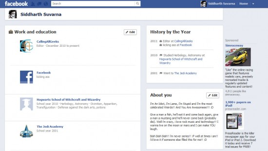 About me Timeline 550x310 How to Enable Facebook Timeline Profile Now