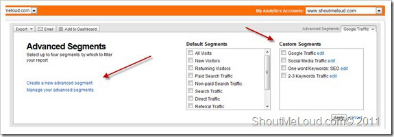 How to Set up Advance Segment in Google Analytics