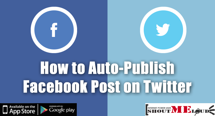Auto Publish Facebook Post on Twitter