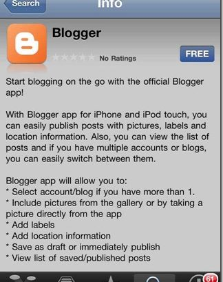 BlogSpot iPhone App Review : It Sucks!