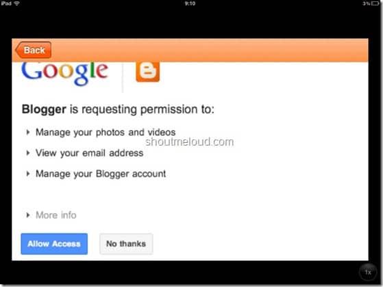 BlogSpot iPhone app screenshots (1)