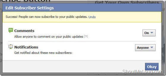 Enable Facebook Subscribe Feature