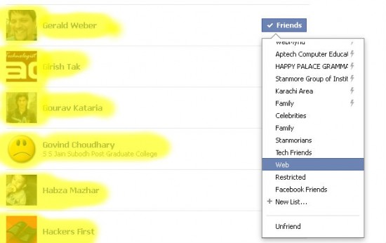 Facebook Test 550x346 How to Customize and Use Facebook Friendlist