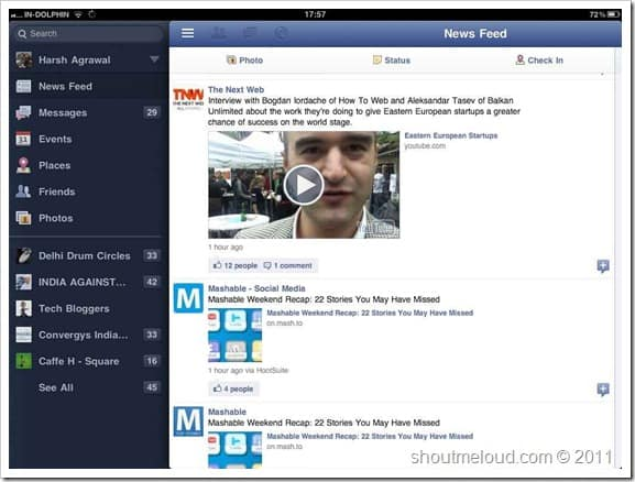 Facebook iPad ap Best Blogging Apps for iPad : Editors Choice