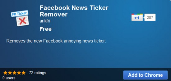 Facebook news ticker remover 550x263 How to Get Rid of the Facebook Ticker