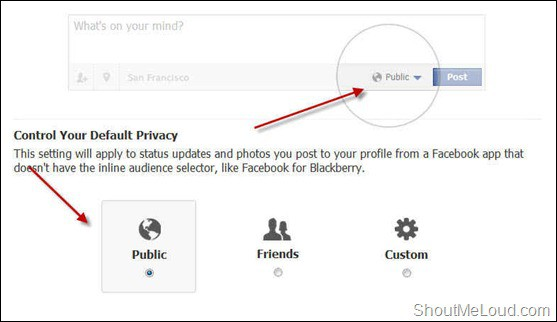 Facebook Default Privacy