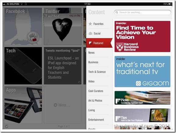 Flipboard iPad app Best Blogging Apps for iPad : Editors Choice