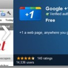 Google+1 Button & Facebook Like Extension for Chrome [Official]