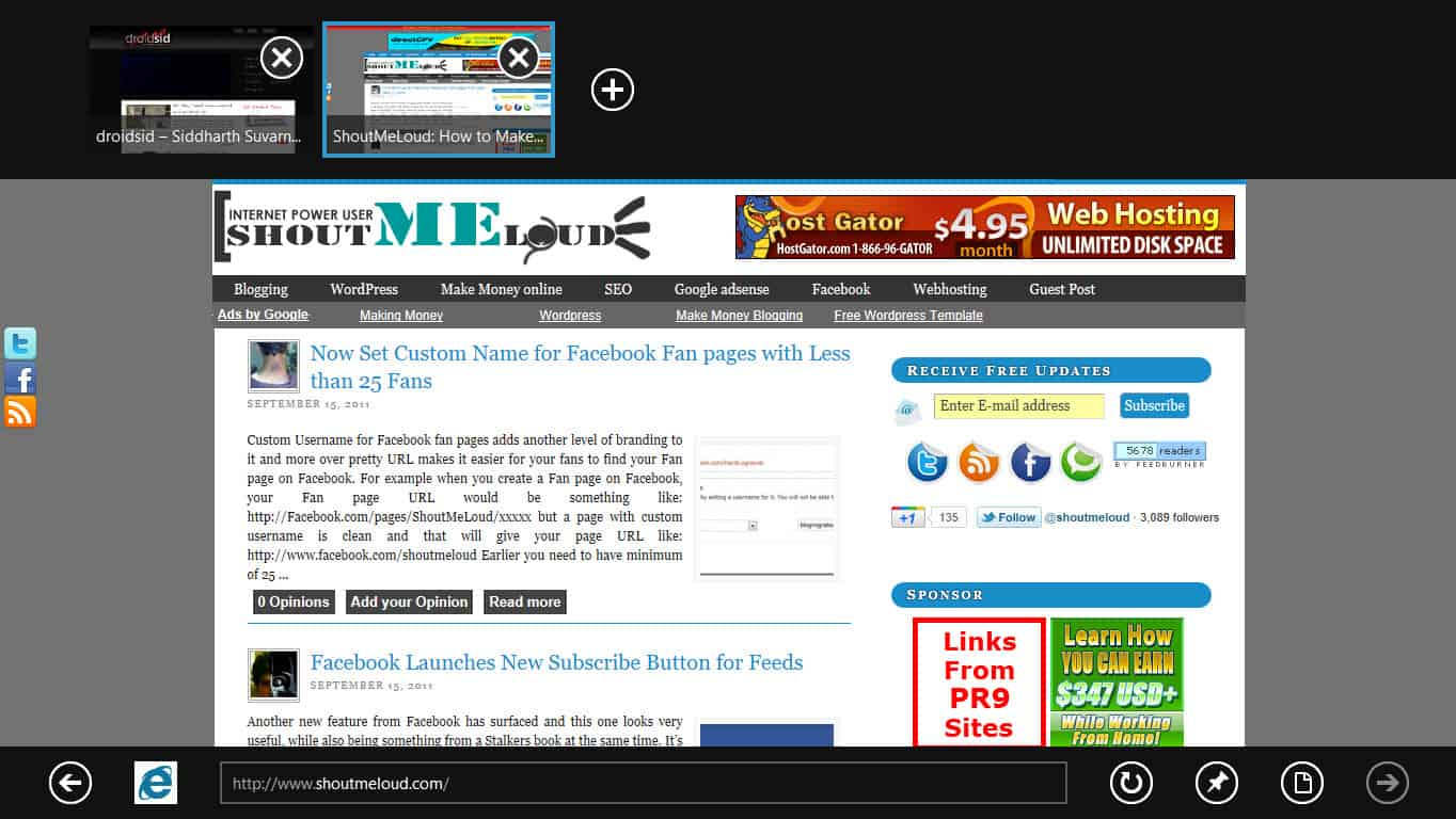 Internet Explorer1 Windows 8 Developer Preview: First Impressions, Whats New