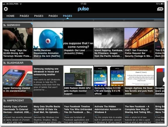 Pulse iPad reader Best Blogging Apps for iPad : Editors Choice