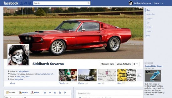 The New Facebook Profile 550x313 How to Enable Facebook Timeline Profile Now