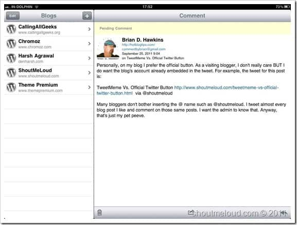 WordPress iPad app Best Blogging Apps for iPad : Editors Choice