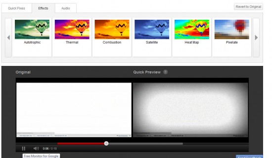 Youtube edit feature 550x319 2D to 3D Conversion And Other New Features Introduced by YouTube