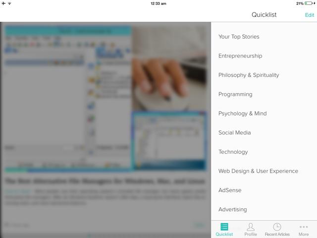 Zite iPad App