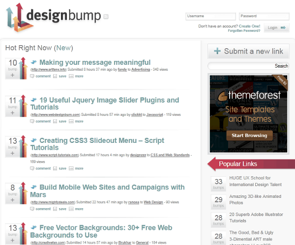 designbump Top 5 Community sites for Web Designers