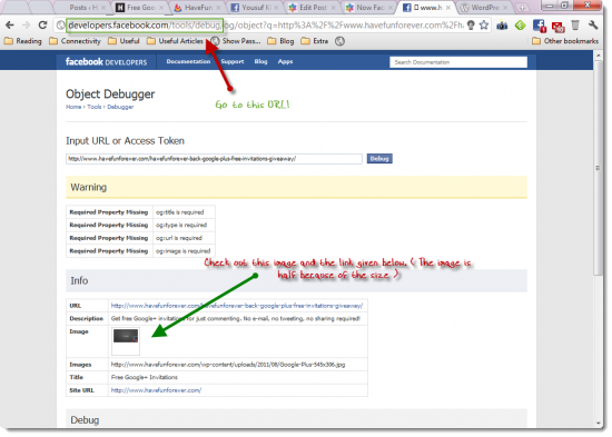 facebook debugger 550x393 Now Facebook Like button will Pick the Right Image