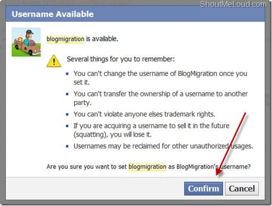 usernameavailable thumb Now Set Custom Name for Facebook Fan pages with Less than 25 Fans