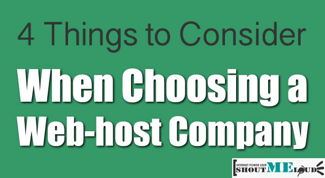 Choosing a Web host Company