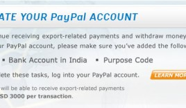 PayPal Increased Receiving Limit to $3000 for Indians