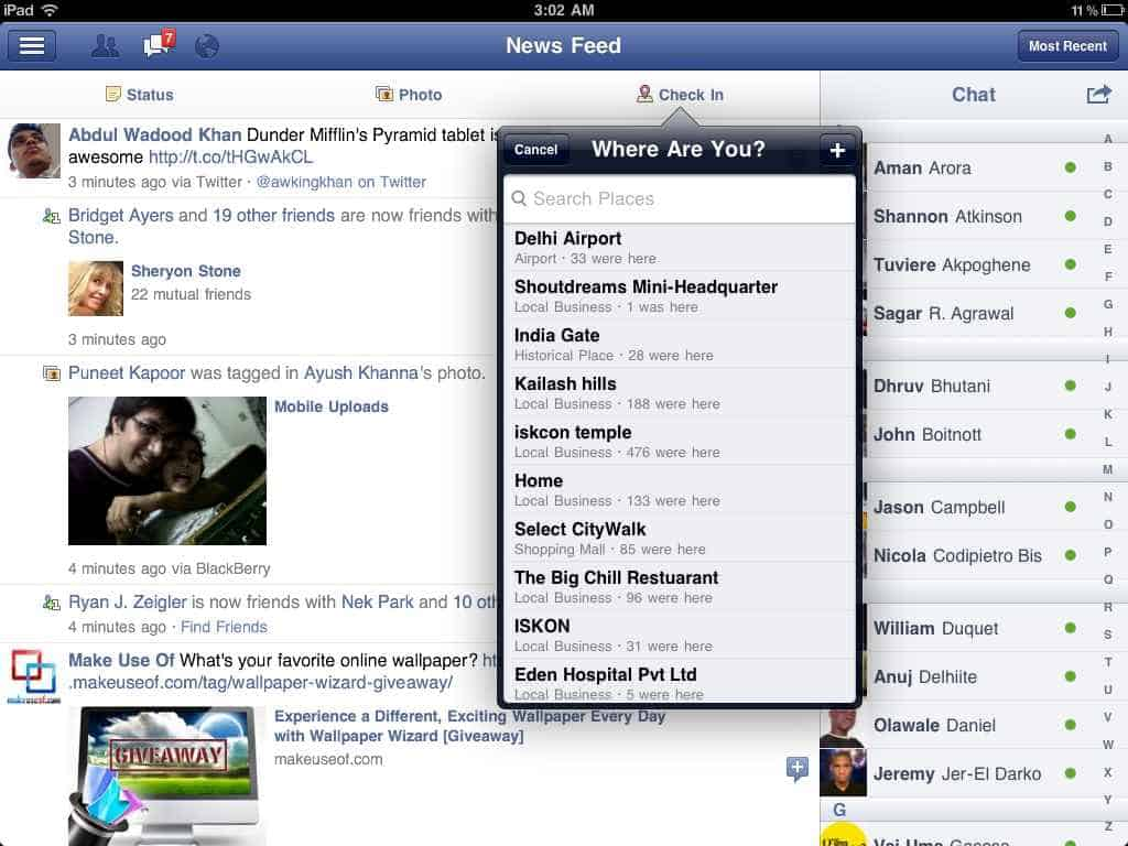 iPad Facebook Screenshot 3 Download Facebook for iPad: Video Review