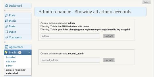 Admin renamer