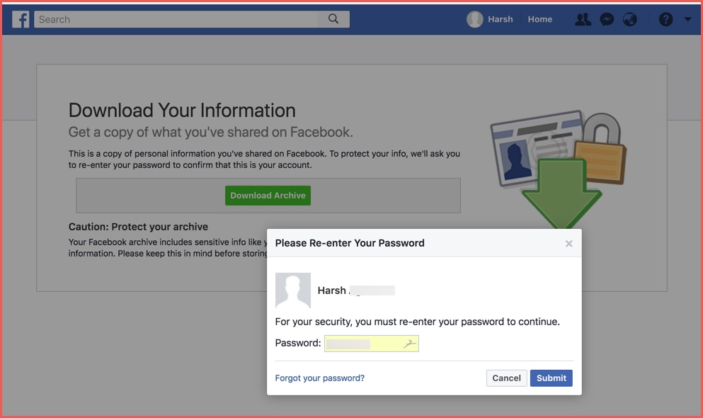 How To Download Your Data From Facebook Account For Social