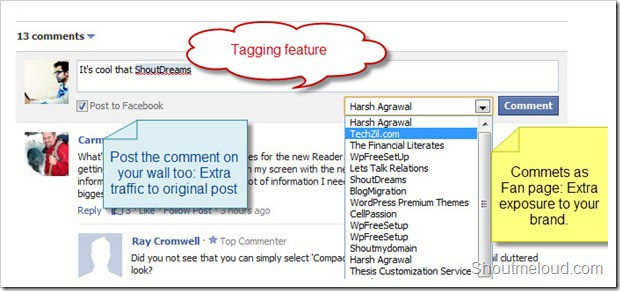 Facebook-comment-features