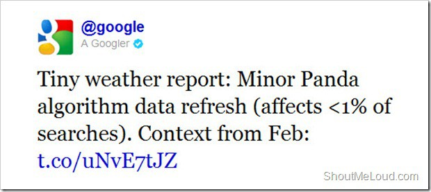 Google Panda Update thumb Google Panda Minor Update December 19th
