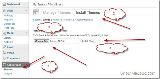 Install WordPress Theme thumb
