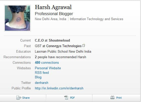 linkedin viewed profile