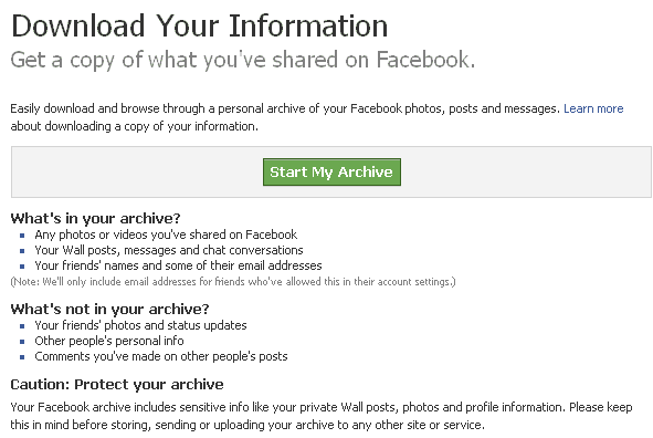 fb backup How to BackUp Facebook Account