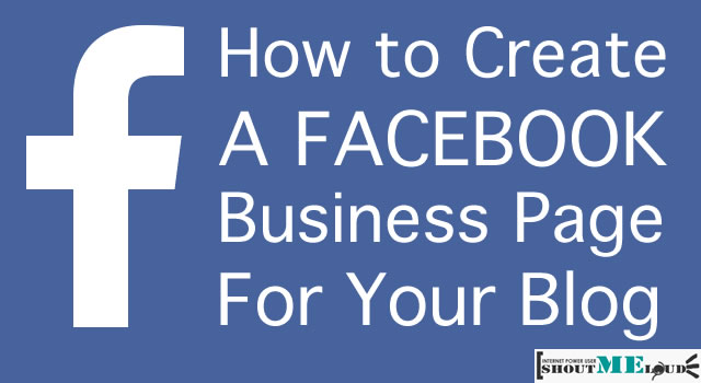 Create Blog Business Page on Facebook