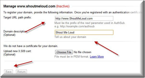 Add Domain details BlogSpot Import Problem : This site has not been Registered