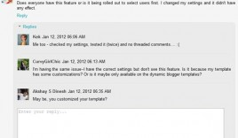 Blogger Threaded Comment is Live : Two Level Commenting