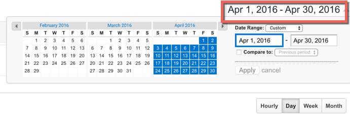 Change date in Google Analytics
