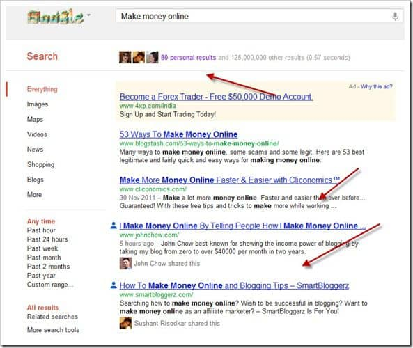 Google personal search thumb Google Personal Search Will change the way you Search Google
