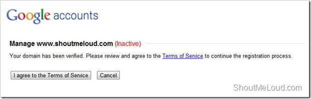 Verify domain Google BlogSpot import