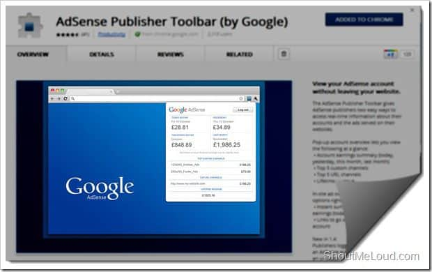 Chrome Adsense Extension for Adsense Publishers