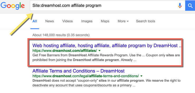 find hosting Affiliate Program