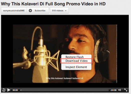 Download Kolaveri Di video song